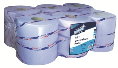 Picture of 60093 Clean and Clever PB1 Standard Centrefeed Roll 1 Ply- Blue